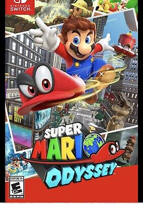 Super Mario Odyssey - Nintendo Switch - Authentic and Complete!