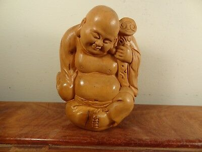 Boxwood Carving Buddha Statue