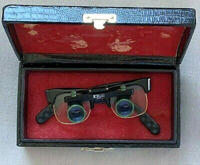 Vintage Pair of KEELER Galilean Loupe Surgical Medical Optical Glasses