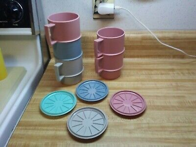 Tupperware cups and coasters