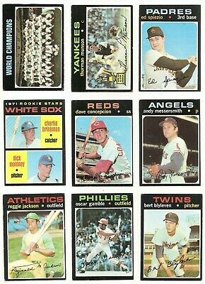 1971 Topps Series 1-3 (1-393) *  You Pick * Stars and Commons
