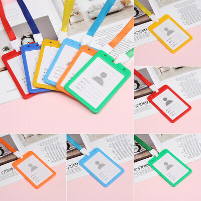 Multi colored Protective Shell Badge Case Card Holders Identity Cards Cover