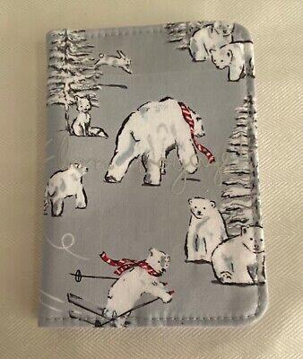 "VERA BRADLEY ~ ""Beary Merry"" ~ Passport Cover ~ RFID Protection~ NWT"