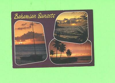 A Postcard Bahamian Sunsetsmulti View Post Card