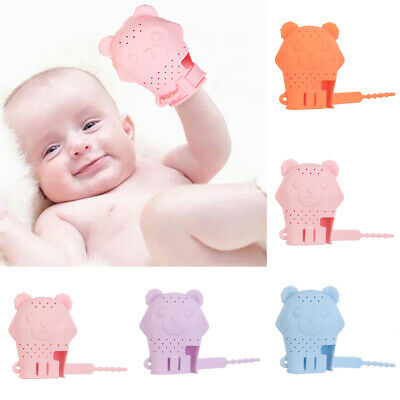 Baby Silicone Mitts Teething Mitten Molar Glove Candy Chew Wrapper Soft Teether