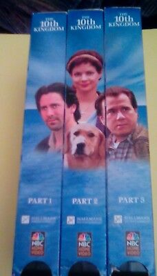 The 10th Kingdom 3-Tape Set VHS John Larroquette parallel universe bewitched dog