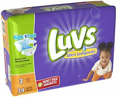 Luvs Ultra Leakguards, Stage 3 Disposable Diaper, 34 Ct