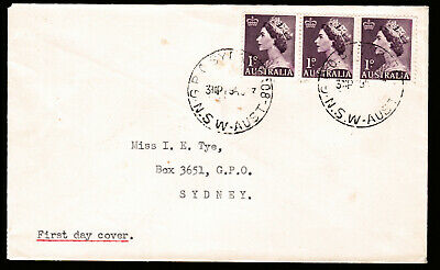 1953 QUEEN ELIZABETH II 1d PRE-DECIMAL STAMP UNOFFICIAL FIRST DAY COVER #53.24