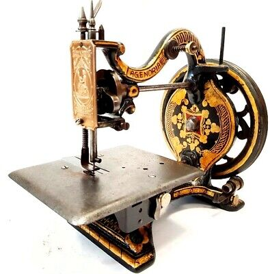 PRECIOSA y antigua maquina de coser AGENORIA de 1877 antique rare SEWING MACHINE