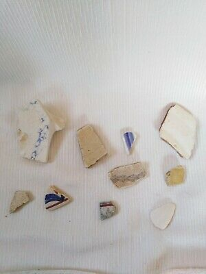 Selection Of Field And Sea Found Pottery Pieces Arts and crafts.