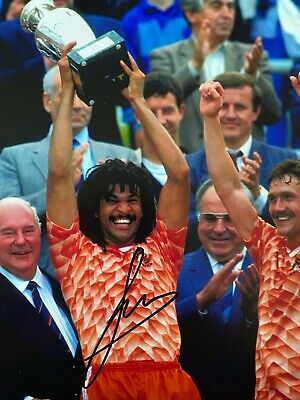 RUUD GULLIT Hand Signed HOLLAND & MILAN Autograph Photo - Authentic