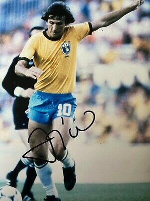 ZICO Hand Signed BRAZIL Autograph Photo - Authentic