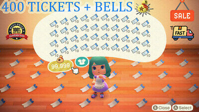 Nook Miles Tickets 400 🎫 + 3 Millions Bells 🔔 Animal Crossing New Horizons 🏠