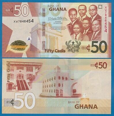 Ghana 50 Cedis P New 2019 UNC  Low Shipping! Combine FREE!