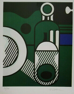 Roy Lichtenstein Hand Signed Print With Coa  Numbered ..  No Reserve !!