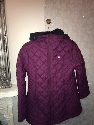 Higear Purple Padded Coat Girls 14-16 Years, Would Also Fit A UK 6/8