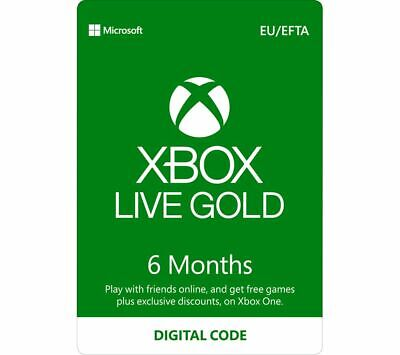 XBOX LIVE 6 MONTH GOLD MEMBERSHIP CODE XBOX ONE  (4-Step VPN Activation)