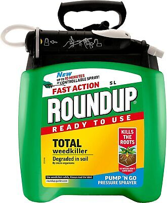 Roundup Fast Action Total Weedkiller 5 Litre Pump 'N Go Ready To Use Spray 5 L