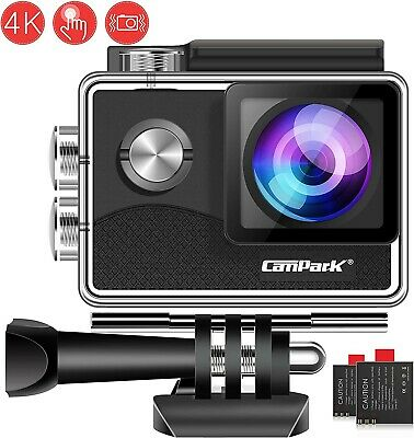 Campark 4K WiFi Action Camera Touch Screen, Web Cam,PC Camera WATERPROOF GoPro
