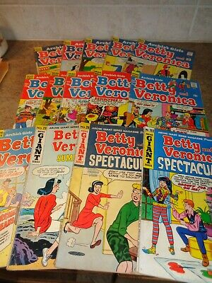 """Fourteen """"Betty and Veronica"""" Comic Books From the 60's/70's"""