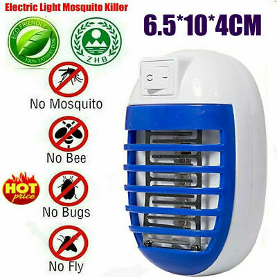 Electric Mosquito Killer UV Light Insect Fly Zapper Bug Trap Catcher Lamp 2Pcs
