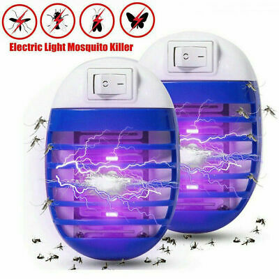 2Pcs Electric UV Light Mosquito Killer Insect Fly Zapper Bug Trap Catcher Lamp