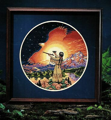Dimension Ceremony of the New Day Native American Southwest Cross Stitch Pattern