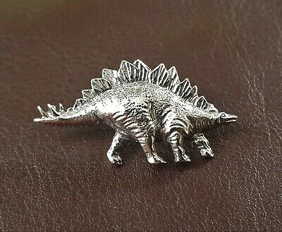 Stegosaurus Dinosaur Pin Brooch in Fine Pewter