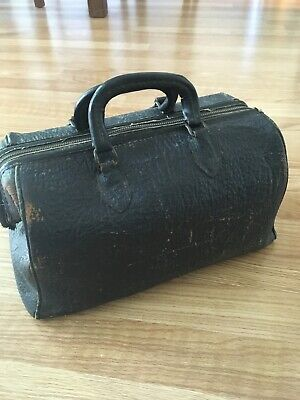 vintage doctors bag leather