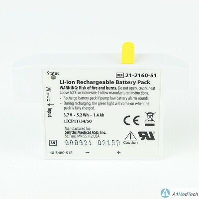 Smiths Medical 21-2160-51 Li-ion Rechargeable Battery Pack
