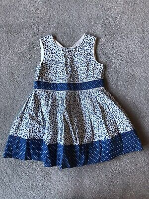 Jasper Conran Junior J Girls Blue Floral Dress Age 12-18 Months