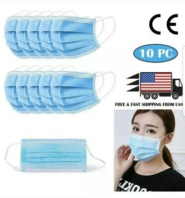Protective Face Mask (10PC)[SHIP FROM USA] mascara protectora de cara