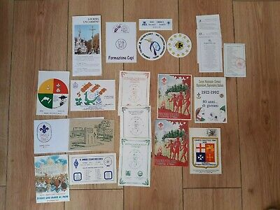 in498 LOT DE CARTES  SCOUT  ITALIA CNGEI AGESCI FOULARDS BLANCS ITALIE SCOUTING