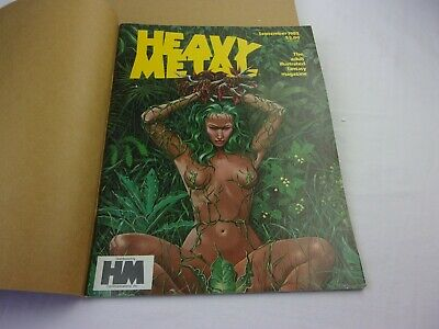 Heavy Metal art fantasy magazine 1982 lot of 9 in mailer wrappers