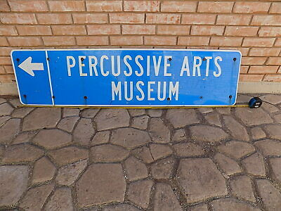 Percussive Arts Society & Museum Sign - NO RESERVE
