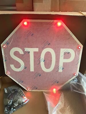 "ONE (1) NEW Tapco Flashing LED STOP Sign 36"" x 36"" 2180-00205"