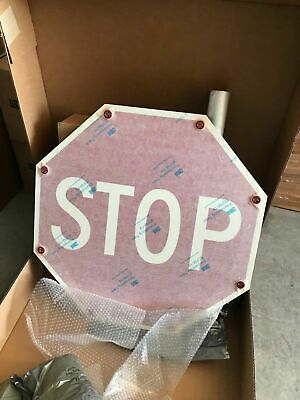 "ONE (1) NEW Tapco Flashing LED SOLAR POWERED STOP Sign 30"" x 30"" 2180-00209"