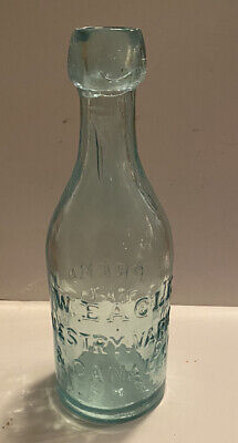 Antique New York Blob Top Soda Water Bottle- W Eagle  Vestry Varicose & Canal St
