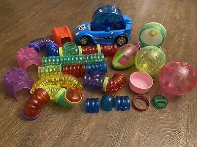 Hamster Accessory Lot Tubing Wheels Huts Car