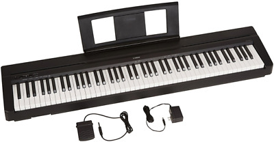 Yamaha P71 88-Key Digital Piano with Sustain Pedal and Power Supply - Black