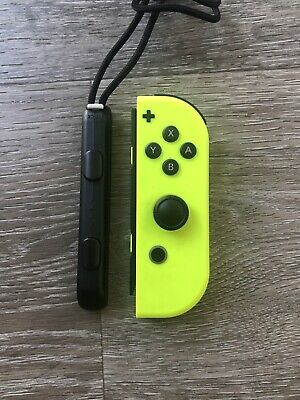 OEM Nintendo Switch RIGHT R Side NEON Yellow Joy Con Controller & STRAP Genuine