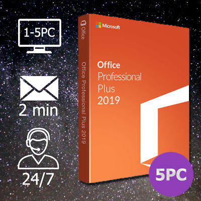 MS Office 2010/2013/2016/2019 Pro Plus (32&64Bits) 1-5PC per E-Mail