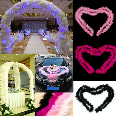 NEW 2M Feather Boa Strip Fluffy Costume Dressup Wedding Party Decor