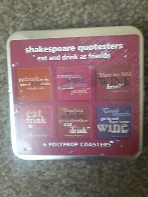 Shakespeare Quotsters Coasters - 6 Polyprop