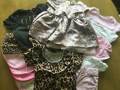 bundle of girls summer clothes age 3 to 6 mths 15 items from next/ H&M/Tu/Georg