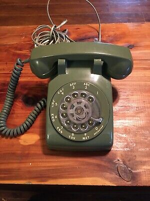 Vintage Stromberg Carlson Green Rotary Dial Desk Telephone Works Perfect