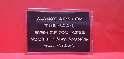 Always Aim For The Moon... L Size Fridge Magnets Novelty Great Gift / Present