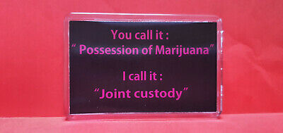 Possession Of Marijuanna... L Size Fridge Magnets Novelty Great Gift / Present