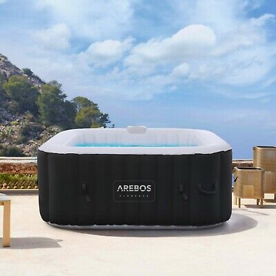 Arebos Whirlpool Spa Pool Wellness Heizung Massage aufblasbar In-Outdoor