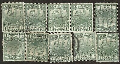 Canada Stamps # 115, 1¢, 1919 Newfoundland, lot of 10, used stamps.